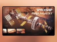 Website Design For Spaceship