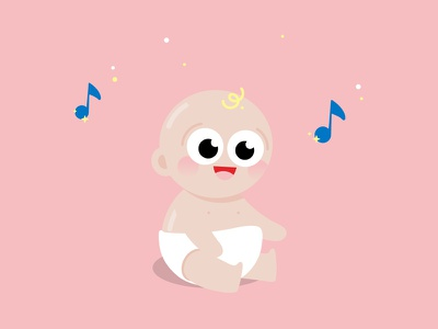 Baby flat 2d vectorial character baby illustration art direction
