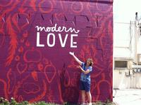 Modern Love Signage Mural