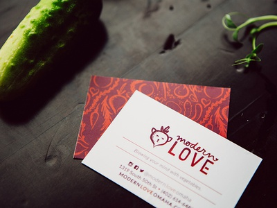 Modern Love Calling Card