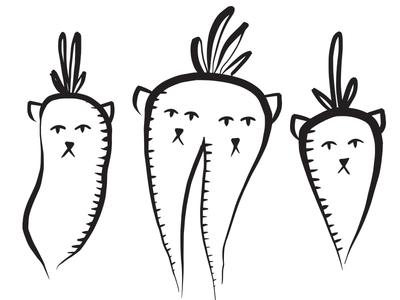 Daikon, Double-Carrot, Carrot