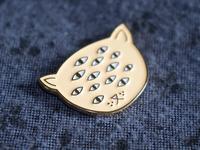 Real Many-Eyed Cat pin!