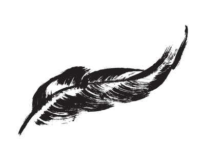 Feather feather illustration inky