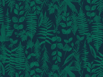Leafy Ferny Pattern ink pattern ferns leaves
