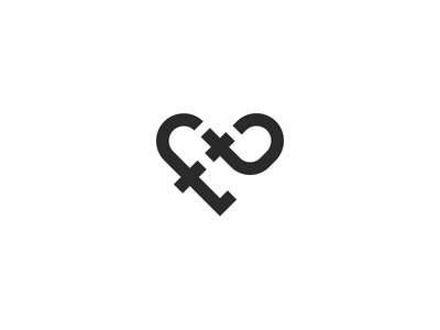 f and t monogram heart
