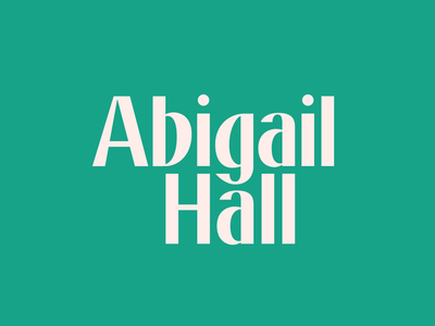 Abigail Hall custom type typography logo