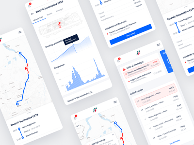 Train monitoring systems ux chart dashboard ui dashboard road ui app uiux mobile ui train mobile app mobile design system mobile