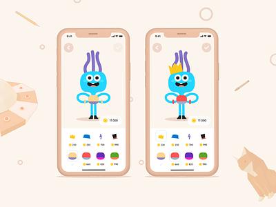 Skyeng kids — hero skills appdesign figmadesign figma webdesign uidesign userexperience userinterface interface kids children alien ux uiux ui design ui skyeng mobile ui mobile design mobile app