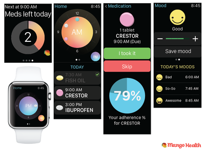 Mango Health on the Apple Watch