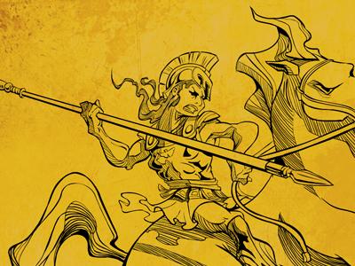 Training Day amazons wonderwoman greek illustration