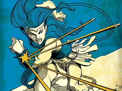 Bullets and Bracelets amazons greek illustration wonder woman