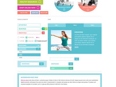 Flat UI development ui ui kit web design flat design birght colorful vibrant flat web