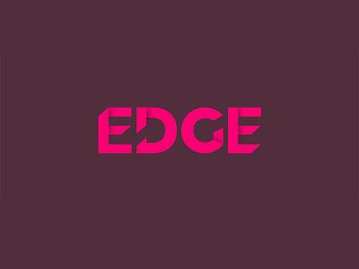 Edge Logo edges hot pink shadow font folded type 3d shadow pink sharp branding edge