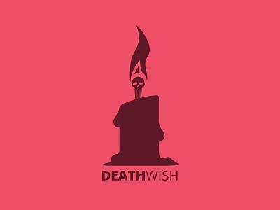 Deathwish wish candle skull logo