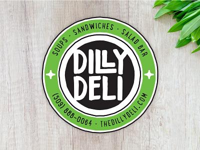Dilly Deli Alt Logo & Sticker badge logo organic badge sandwich wenatchee deli