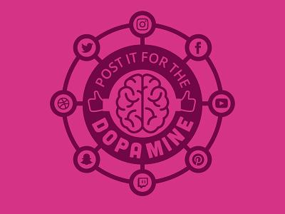 Social Dopamine socialmedia social ego dopamine logo badge