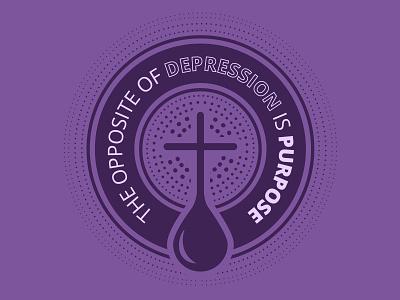 Purpose cross jesus purpose depression badge logo badge