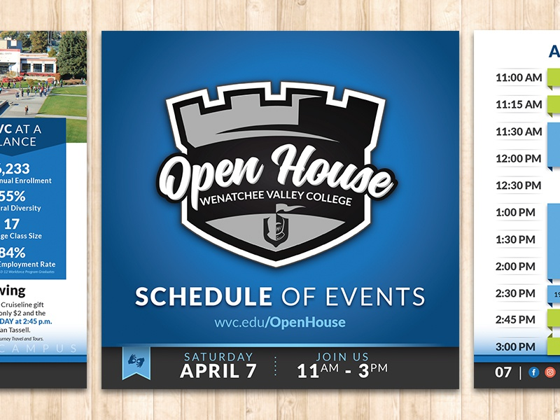 Wenatchee Valley College Open House Booklet wenatchee house open events schedule booklet