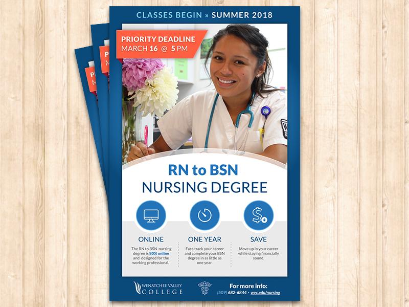 RN to BSN Nursing Degree Poster education college poster nursing