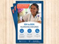 RN to BSN Nursing Degree Poster