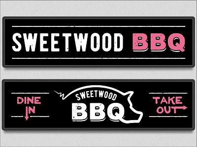 Sweetwood BBQ Backlit Signs wenatchee pig sign backlit bbq wood