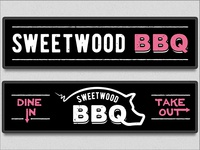Sweetwood BBQ Backlit Signs