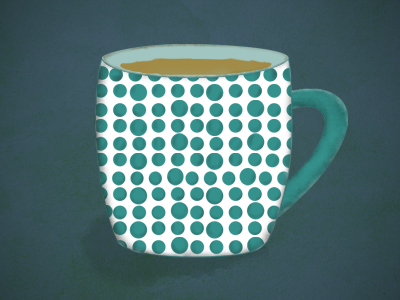 Cup texture. with work brush photoshop