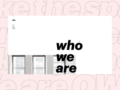 Own website. About page about us about us page own website white ui ux logo design concept
