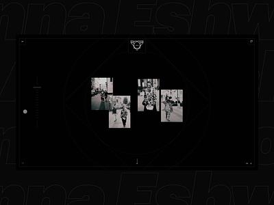 Anna Eshwood website gallery collection portfolio black fashion design concept blvk ui white ux