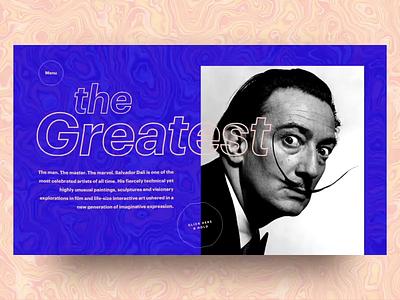 The greatest Salvador Dali concept animation wave concept painter art