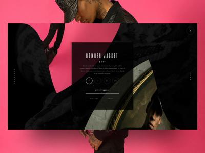 Single product animation blvk design concept portfolio e-store animation ux ui product page singlepage