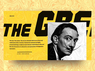 The greatest Salvador Dali concept 2 splash yellow painter animation design portfolio ux ui