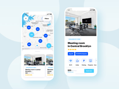 Meeting rooms Booking App