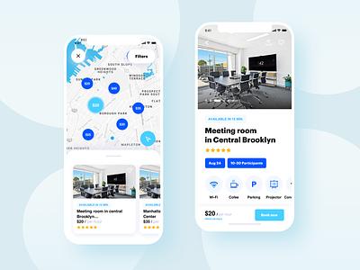 Meeting rooms Booking App ui mobile ui mobile app design mobile app mobile app design concept white ux