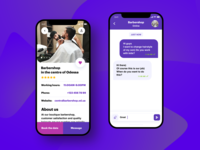 Services booking app. Chat
