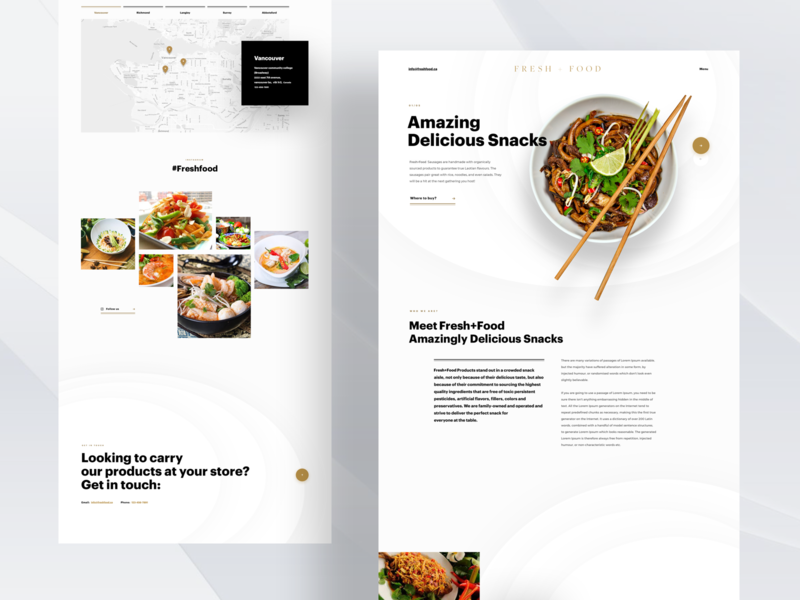 Fresh Food food and drink food e-store ui branding illustration design concept animation white ux
