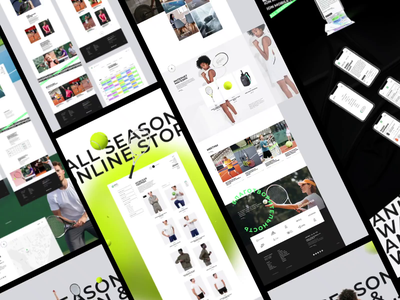 ASTA presentation sports sport academy tennis illustration logo branding fashion animation ui ux