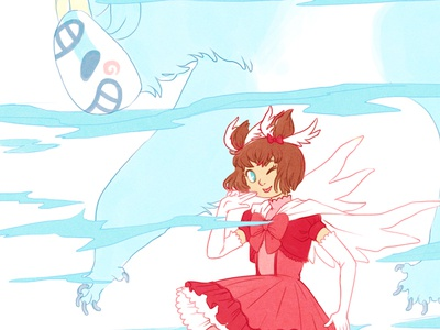 Magical Girl Hana original hana illustration magical girl beast oscar