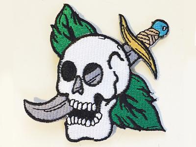 Skull Patch vintage tattoo knife sale patch skull