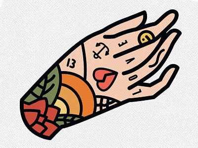 Tattooed hand photoshop graphic design nature adobe design art