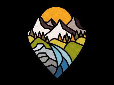 Mountain Tops photoshop graphic design nature adobe design art