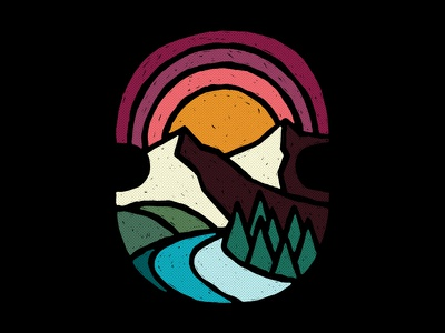 Mountain Views mountains photoshop graphic design nature adobe design art