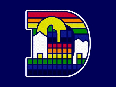 Denver Nugget D mountains photoshop graphic design nature adobe design art
