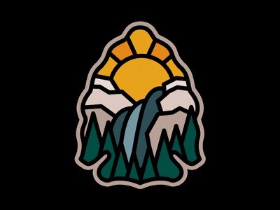 Arrowhead mountains photoshop graphic design nature adobe design art