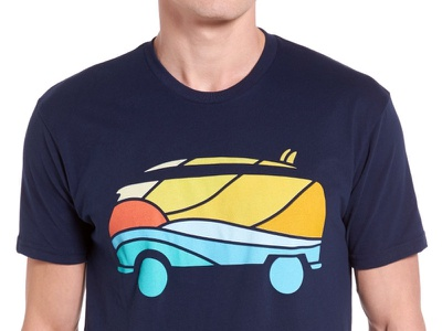BeachVan mountains photoshop graphic design nature adobe design art