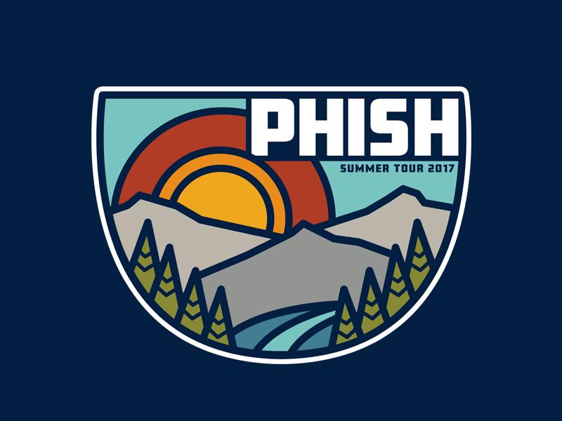 Phish Summer Tour Graphic flatdesign photoshopnature phish design art