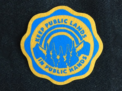 Vintage Felt Patch Design vintage design art