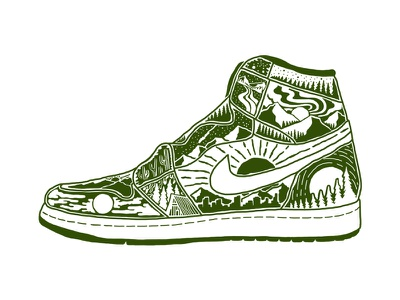 Air Jordans 1 vintage design art