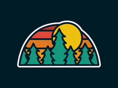 Forest photoshop vintage design art