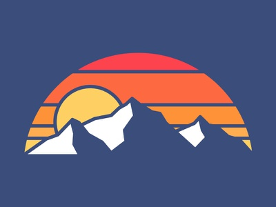 3 Mountains photoshop vintage design art